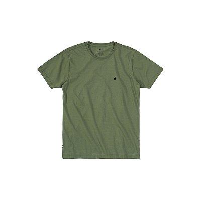 Camiseta básica masculina de gola redonda - Verde