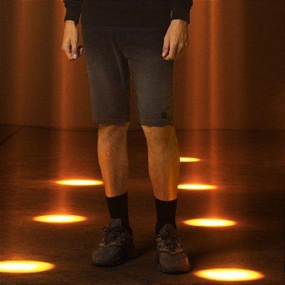 Bermuda Jeans Preta com Degradê Masculina Wade - Black Denim