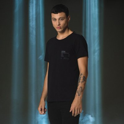 Camiseta Masculina Manga Curta Com Bolso Ams Goods - Preto
