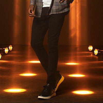 Calça de Sarja Skinny com Elastano Masculina  Feest - Preto