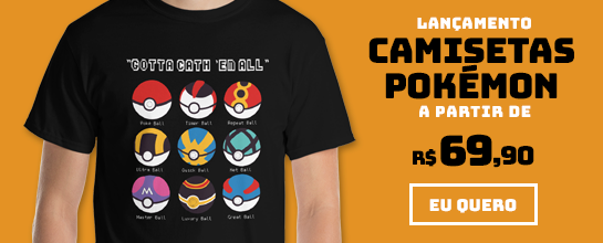 Lançamento Camisetas Pokémon (JAN-FEV/2020)