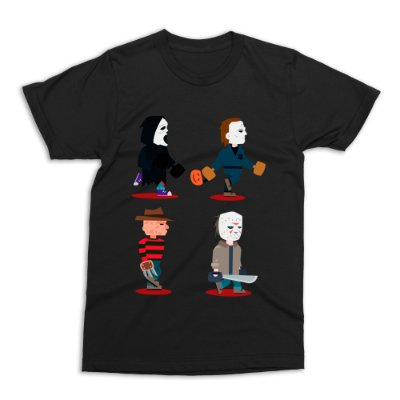 Camiseta Filmes Slashers (Preta)