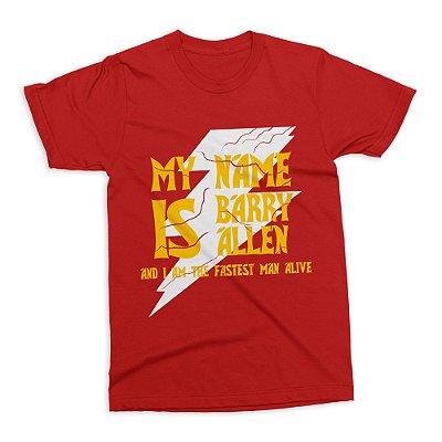 Camiseta Flash - My Name is Barry Allen