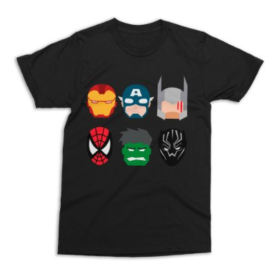 Camiseta Vingadores (Preta)