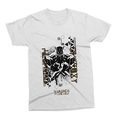 Camiseta Pantera Negra (Branca)