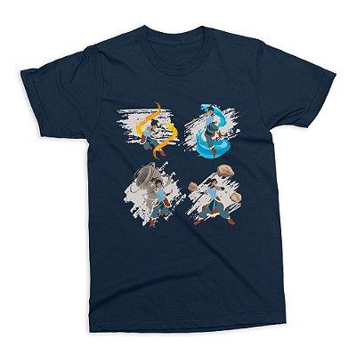 Camiseta A Lenda de Korra (Azul)