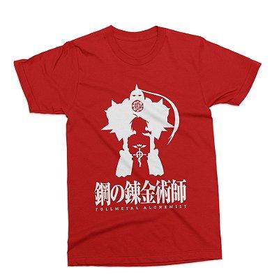 Camiseta Fullmetal Alchemist (Vermelha)
