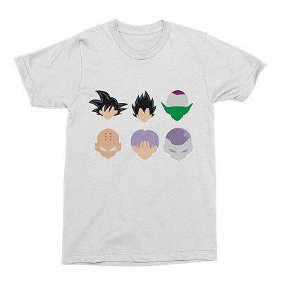 Camiseta Dragon Ball - Personagens (Branca)