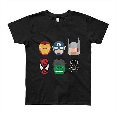 Camiseta Vingadores - Infantil (Preta)