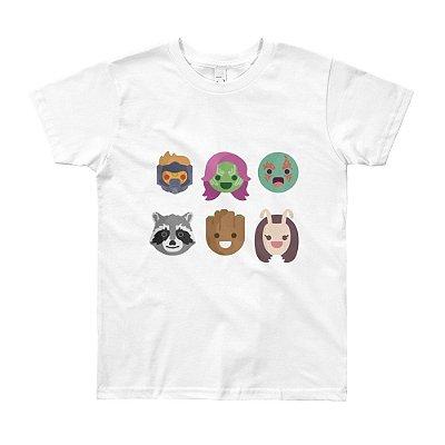 Camiseta Guardiões da Galáxia - Infantil (Branca)