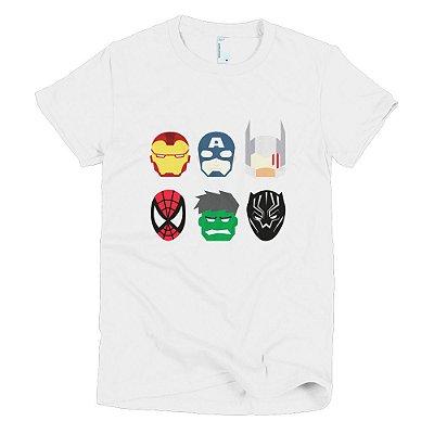 Camiseta Vingadores - Feminina (Branca)