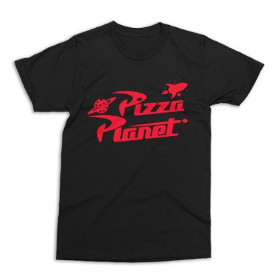 Camiseta Toy Story Pizza Planet (Preta)