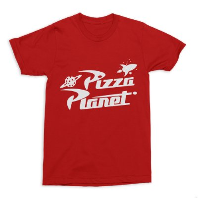 Camiseta Toy Story Pizza Planet (Vermelha)