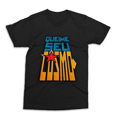 Camiseta Cavaleiros do Zodíaco - Preta (Tamanho G)
