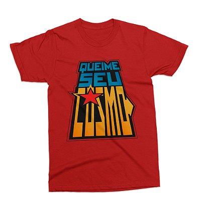 Camiseta Cavaleiros do Zodíaco - Vermelha (Tamanho G)