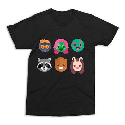 Camiseta Guardiões da Galáxia - Preta (Tamanho G)