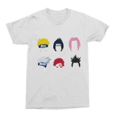Camiseta Naruto - Personagens - Branca (Tamanho M)