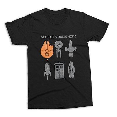 Camiseta Naves Ficção Científica (Tamanho G)