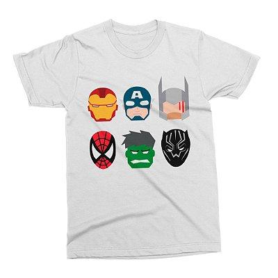 Camiseta Vingadores - Branca (Tamanho G)