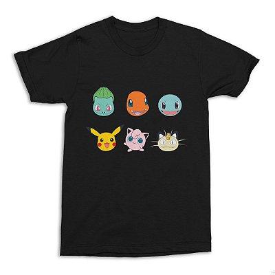Camiseta Pokémon (Preta)