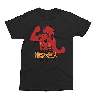Camiseta Attack on Titan - Eren Yeager (Shingeki no Kyojin)