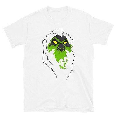 Camiseta Rei Leão - Scar (Branca)