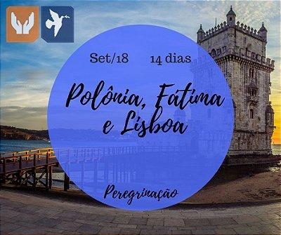 POLÔNIA, FÁTIMA E LISBOA - PE ANCHIETA – 14 DIAS / SET 2018