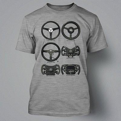 Camiseta McLaren Wheels Evolution - Cinza