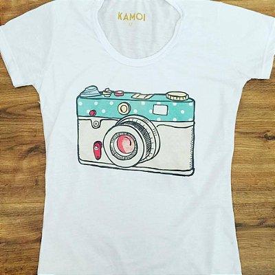 Camiseta Personalizada Fotógrafa - Câmera