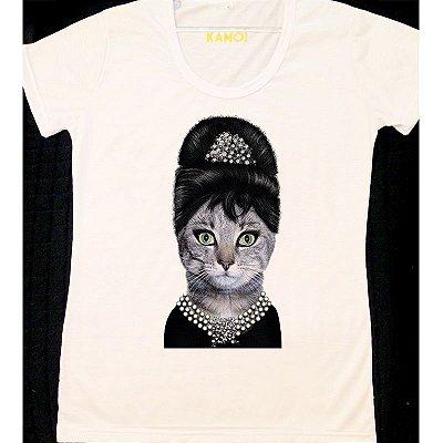 Camiseta Audrey Hepburn Gato