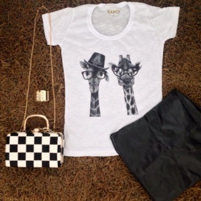 Camiseta Casal Girafas