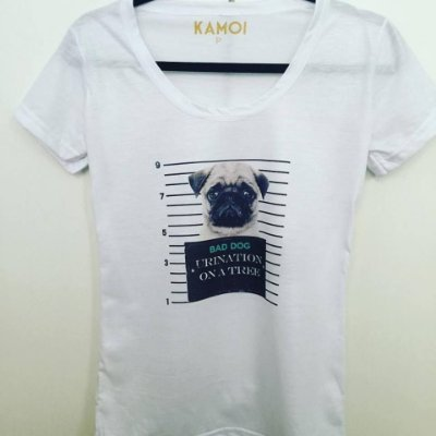 Camiseta Bad Dog Pug