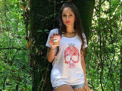 Camiseta Caveira Feminina