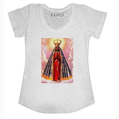 Camiseta Nossa Senhora Aparecida Fundo Rosa