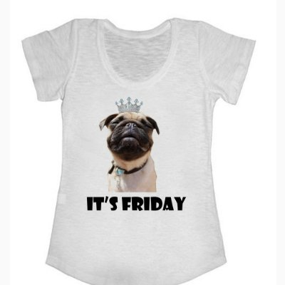 Casmiseta Pug Friday