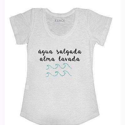 Camiseta água salgada alma lavada