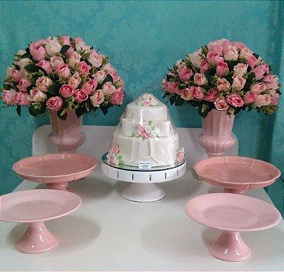 Kit mesa rosa bebê