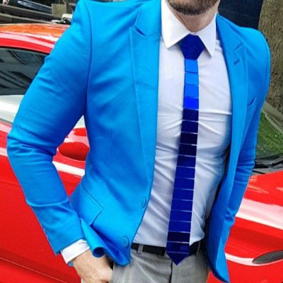 BLAZER SLIM FIT COLOR AZUL
