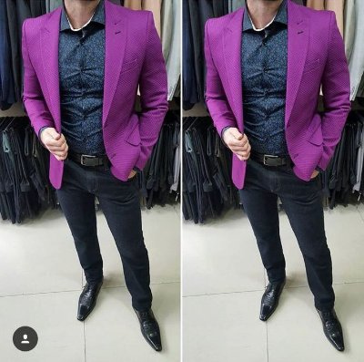 BLAZER SLIM FIT COLOR ROXO