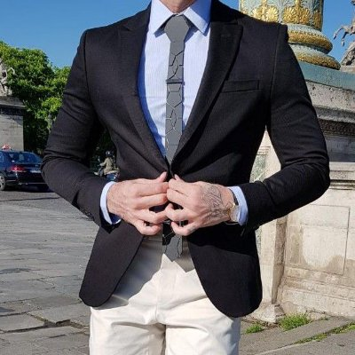 BLAZER SLIM FIT COLOR PRETO