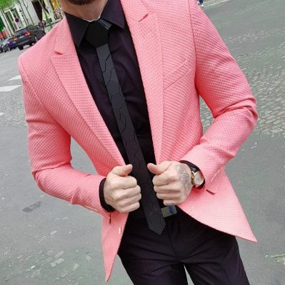 BLAZER SLIM FIT COLOR SALMÃO