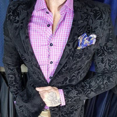 BLAZER SLIM FIT JACQUARD