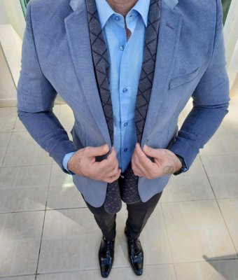 Blazer Veludo Azul