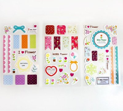 KIT CARTELA DE ADESIVOS MISS FLOWER