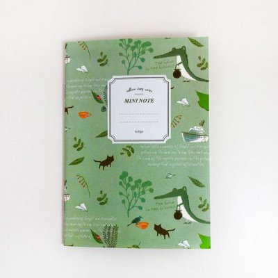 CADERNO MINI NOTE BICHINHOS VERDE