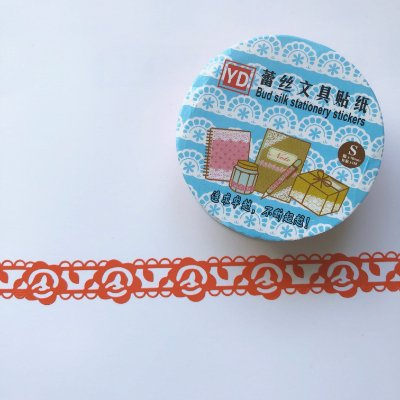 WASHI TAPE RENDA ROSAS