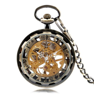 Relógio de Bolso Esqueleto Automático ys-2011