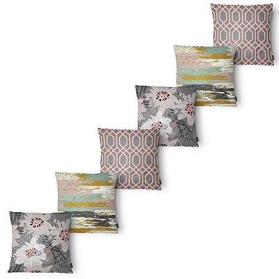 Kit 6 Capas Almofada Belchior Elegance Colors 43x43 cm