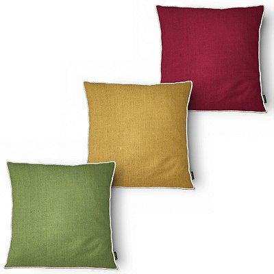 Kit 3 Capa para Almofada Belchior Botanica Colors 43x43 cm