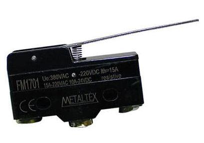 FM1701 CHAVE FIM DE CURSO MINIATURA ATUADOR ALAVANCA LONGA I07836 METALTEX